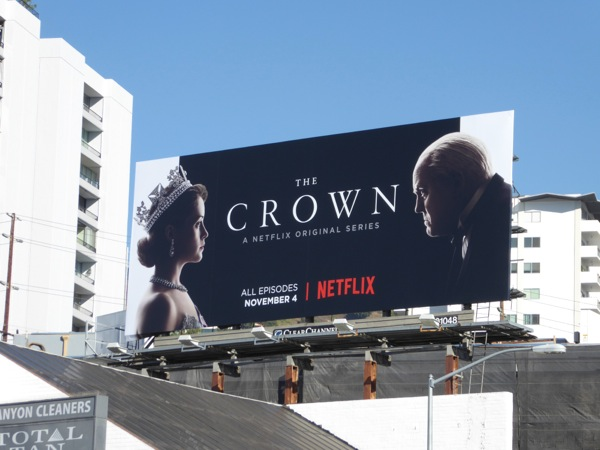 Crown Netflix series billboard