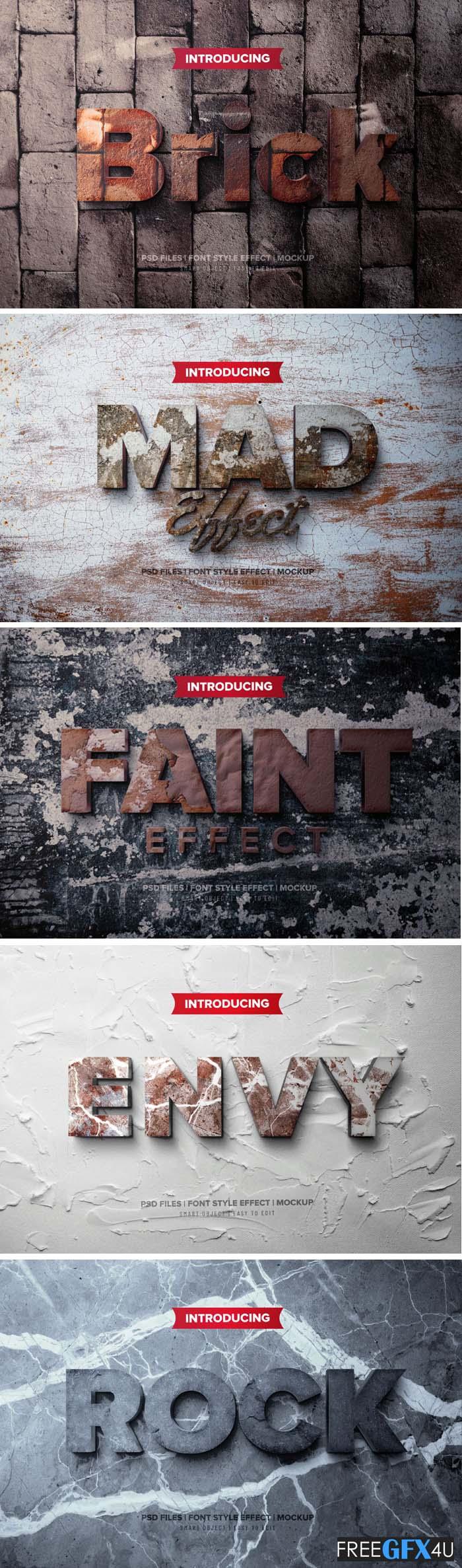 3D Text Effect PSD Mockup