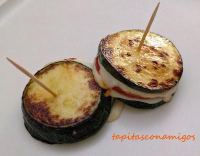 S�ndwich de calabac�n, mozzarella y chorizo