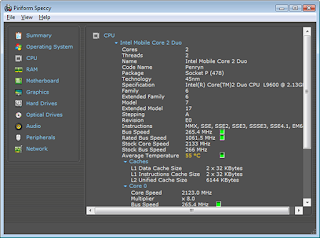 CPU information with speccy