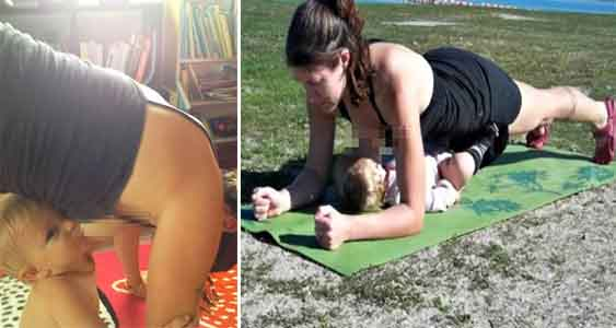 5 Aksi Konyol Ibu Sedang Menyusui Anaknya