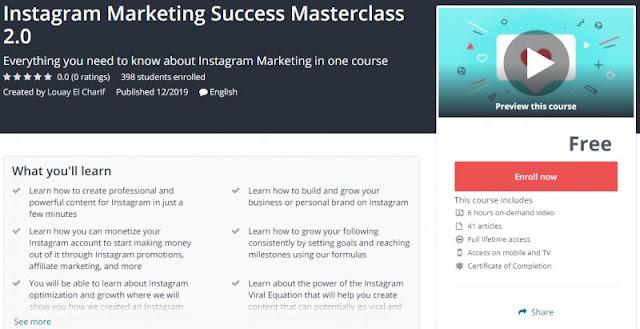 [100% Free] Instagram Marketing Success Masterclass 2.0