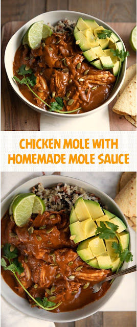 CHICKEN MOLE WITH HOMEMADE MOLE SAUCE