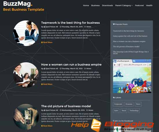 Buzzmag business blogger template free download flashek Image collections