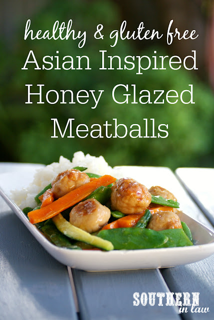 Healthy Asian Honey Meatballs and Vegetables Recipe - low fat, gluten free, high protein, clean eating, healthy, low calorie