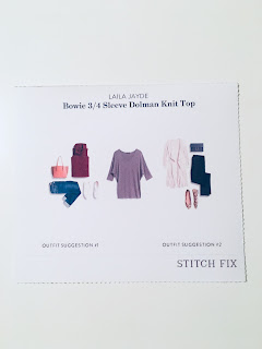 October 2017 Stitch Fix Review. Laila Jayde Bowie 3/4 Sleeve Dolman Knit Top | brazenandbrunette.com