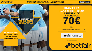 betfair supercuota City gana Tottenham 17 abril 2019