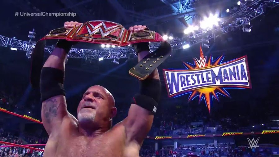 "RESULT: WWE Fastlane PPV 2017 - New Universal Champion ""Bill Goldberg"""