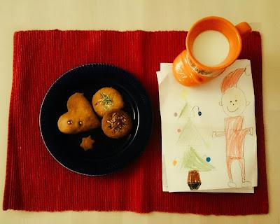 ciastka, mleko, list, Święty Mikołaj