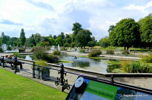 Jardins Italianos de Kensington, Londres