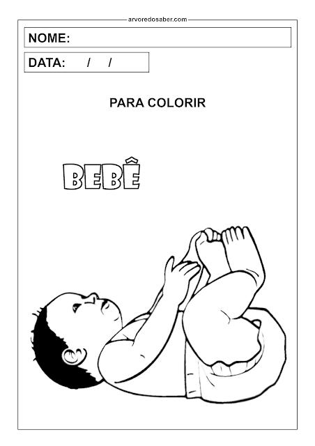 bebê para colorir