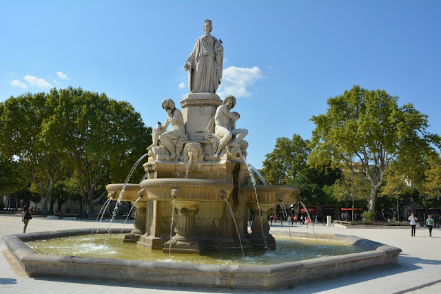 Nimes fountain