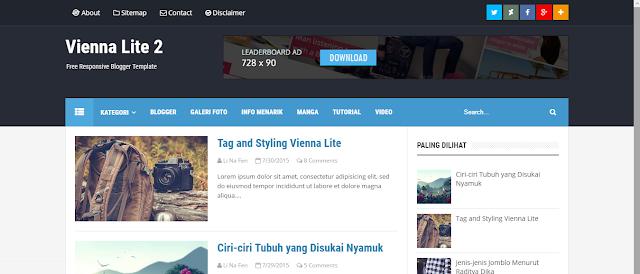 Vienna Lite 2 Blogger Template Free