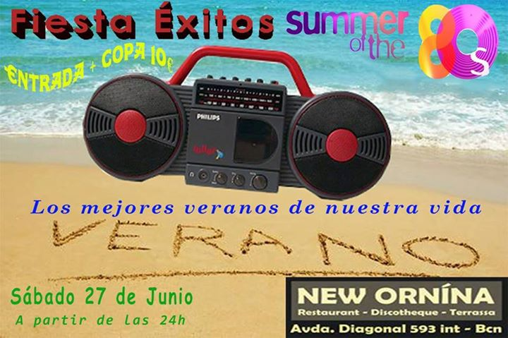Flyer Fiesta Éxitos Summer 80