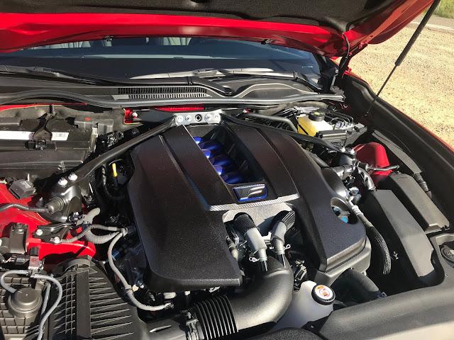 Engine in 2020 Lexus RC-F