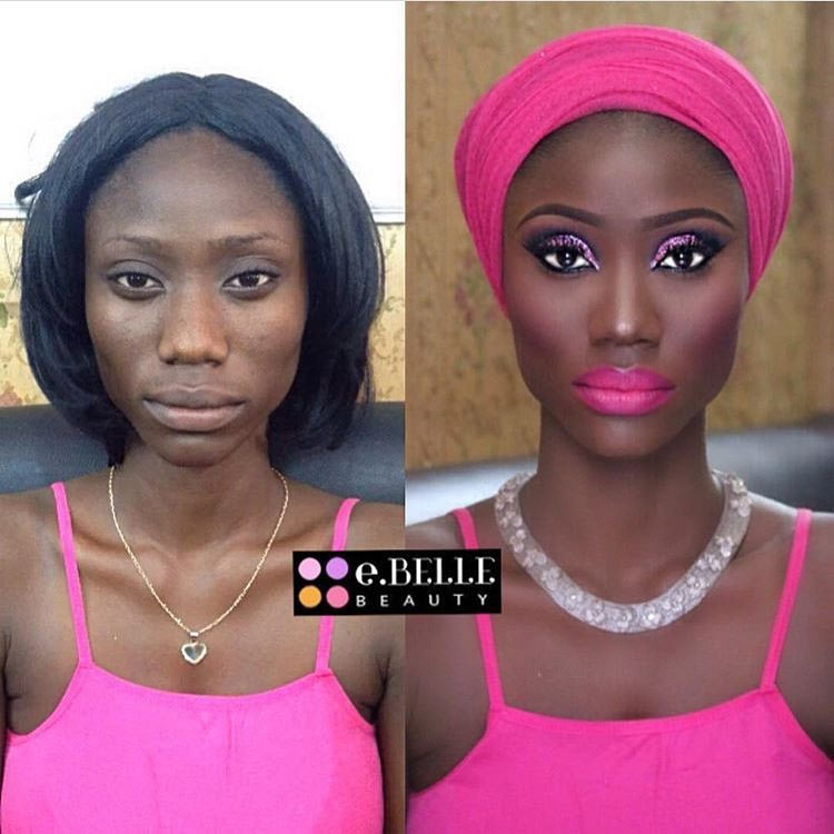 Make-up transformation causes outrage on social media