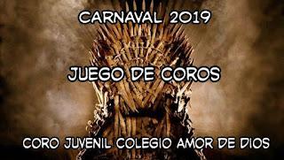 """El coro Juvenil que en el carnaval 2018 fuese """"Cazasonrisas"""" será para el Carnaval 2019, """"Juego de Coros"""""""