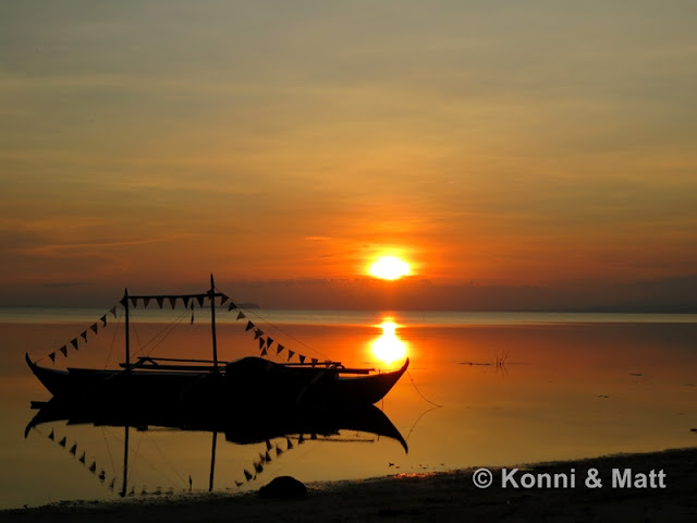 Sunset, bangka, Siquijor island, Philippines