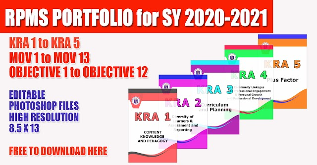 Editable RPMS Portfolio for SY 2020-2021