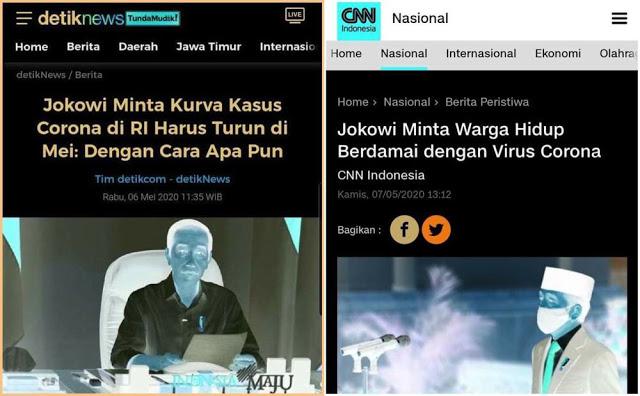 Corona, Perang dan Damai Presiden Jokowi, Frustasi Jokowi?