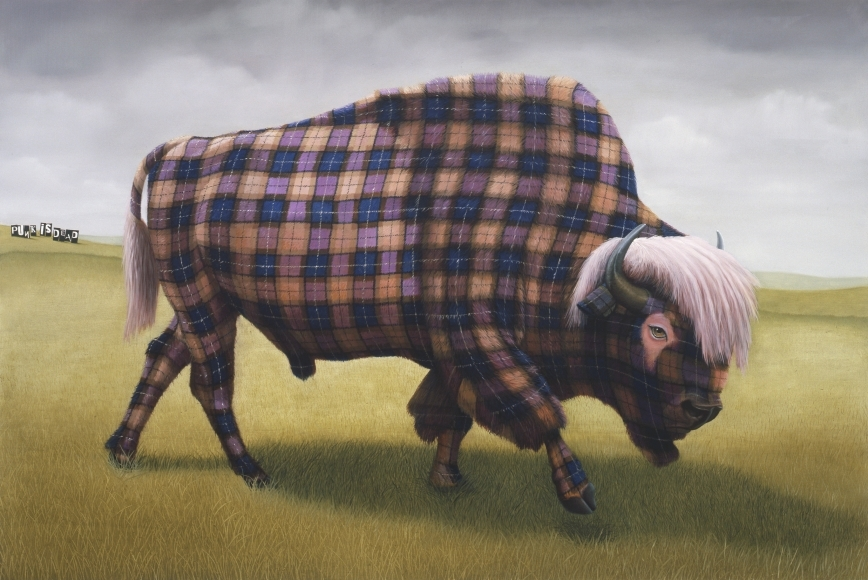 01-Punk-is-Dead-Sean-Landers-Paintings-of-Animals-that-Swap-their-Fur-for-Tartan-Coats-www-designstack-co