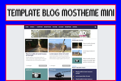Mostheme Mini - Blogger Template Responsive Free Download