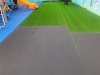 新鋪設人工草皮複層地墊