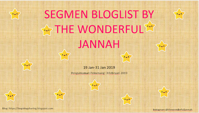 blogwalking segmen bloglist by the wonderful jannah the greyblogwalking segmen bloglist by the wonderful jannah