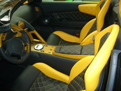 Lamborghini is very luxurious interior
