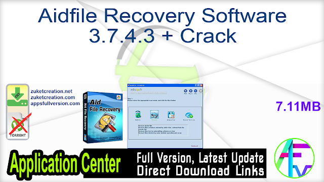 Aidfile Recovery Software 3.7.4.3 + Crack