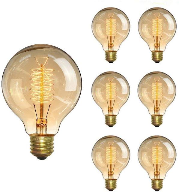 KINGSO Vintage Edison Bulb 60W Incandescent Antique Dimmable Light Bulb