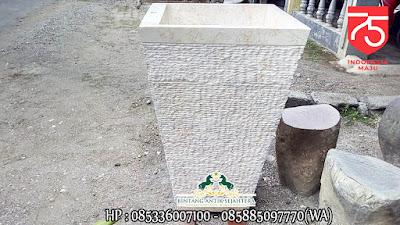 Pedestal Batu Marmer, Pedestal Harga Murah, Wastafel Cuci Tangan Marmer