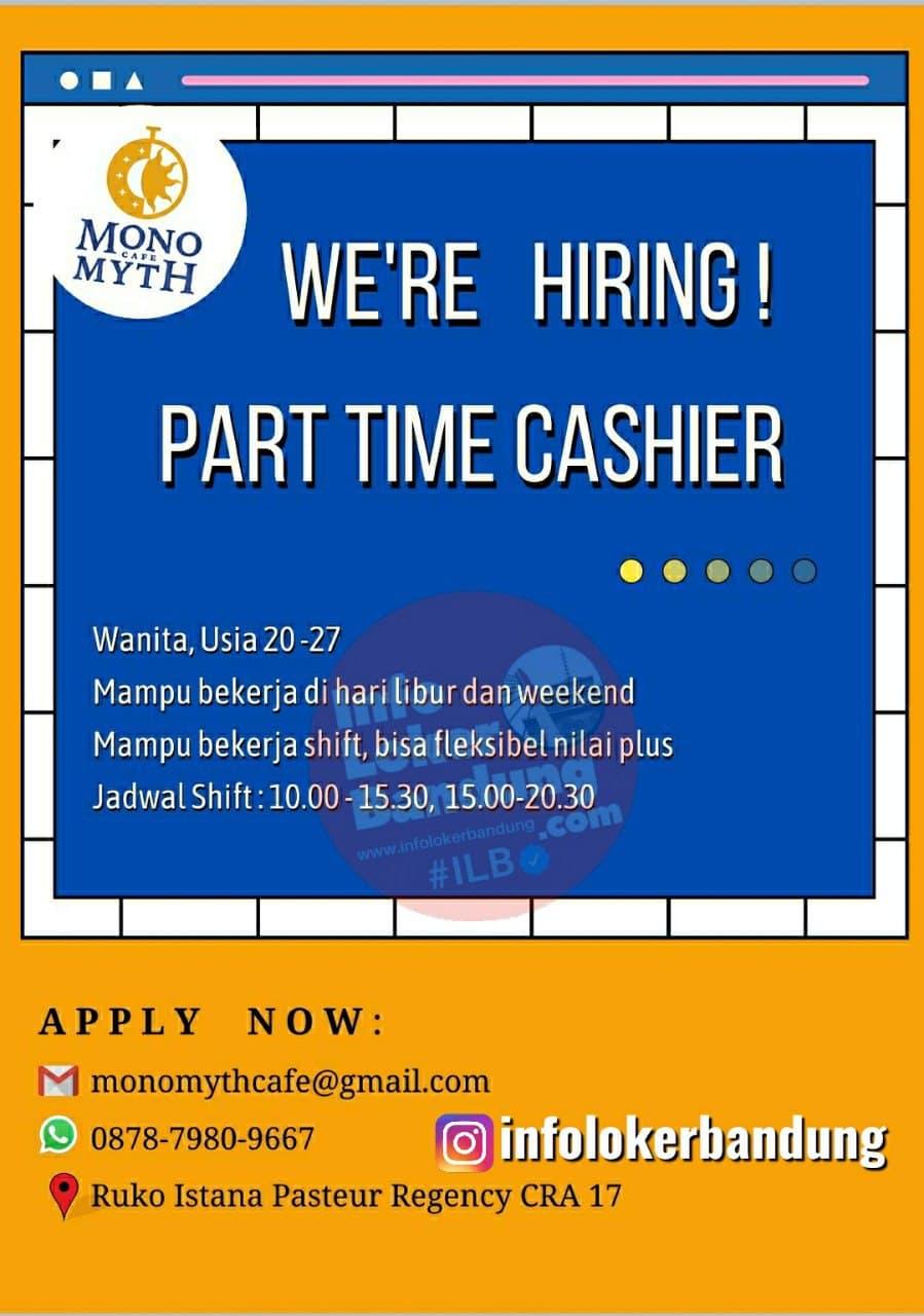 Lowongan Kerja Part Time Cashier Monomyth Cafe Bandung Juni 2021
