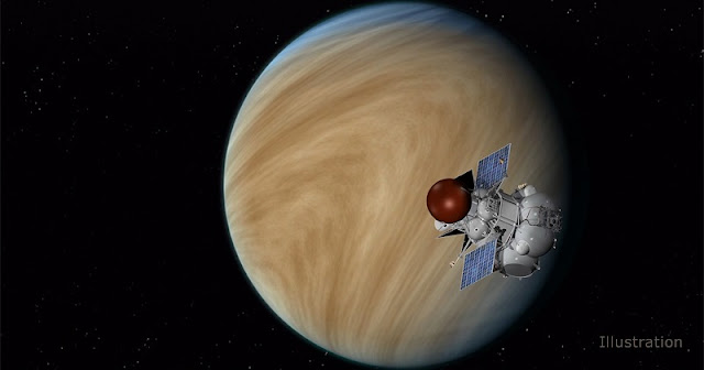 The Russian Academy of Sciences' Space Research Institute (IKI) Venera-D mission concept includes a Venus orbiter that would operate for up to three years, and a lander designed to survive the incredibly harsh conditions a spacecraft would encounter on Venus' surface for a few hours. Image credit: NASA/JPL-Caltech
