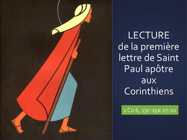 """Lettre de Saint Paul - Diaporama """"Votre corps est un sanctuaire de l'Esprit Saint"""""""
