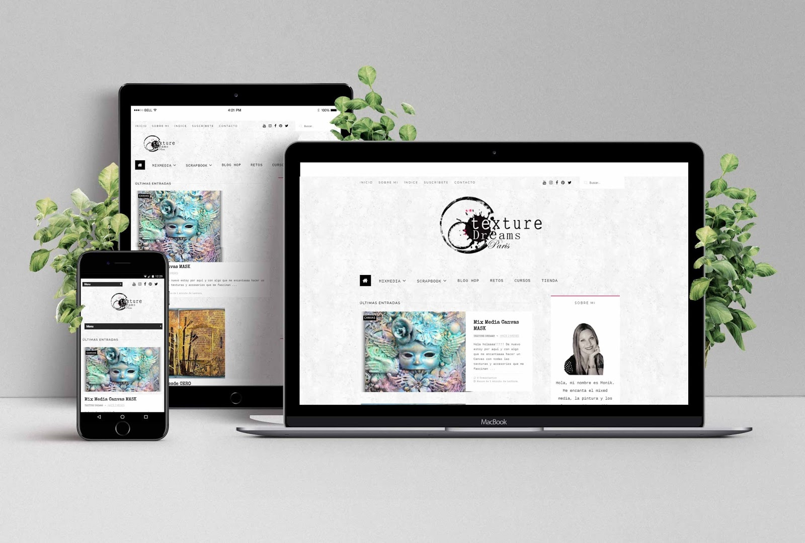 Diseño Web de Texture Dreams Paris