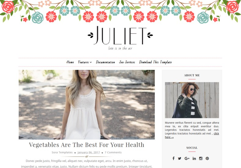 Juliet Blogger is a most beautifull Template