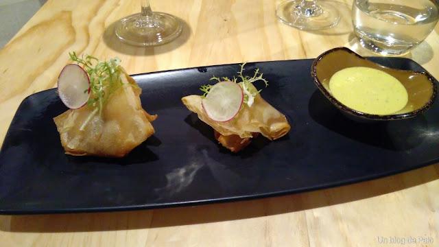Restaurante El Inti de Oro (Madrid) saquitos lomo
