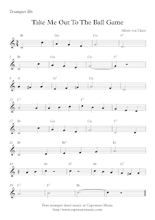 Take Me Out To The Ball Game, sheet music for trumpet