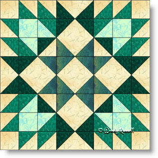 Delectable Mountains Variation quilt block image © Wendy Russell