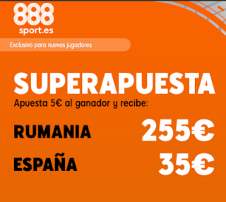 888sport superapuesta euro 2020 Rumania vs España 5 septiembre 2019