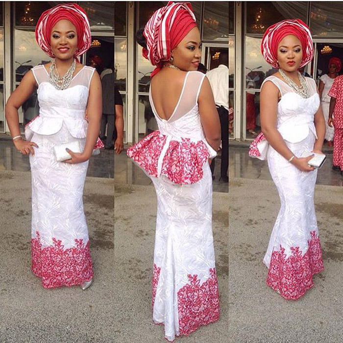 plain and pattern ankara gown (12)