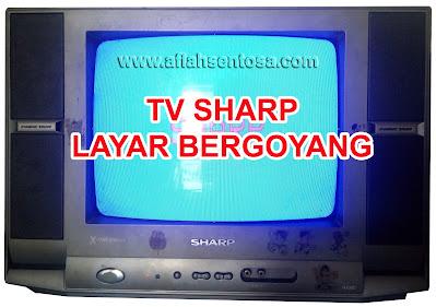 TV Sharp Layar Bergoyang