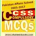 CSS Compulsory MCQS 2005 - 2017