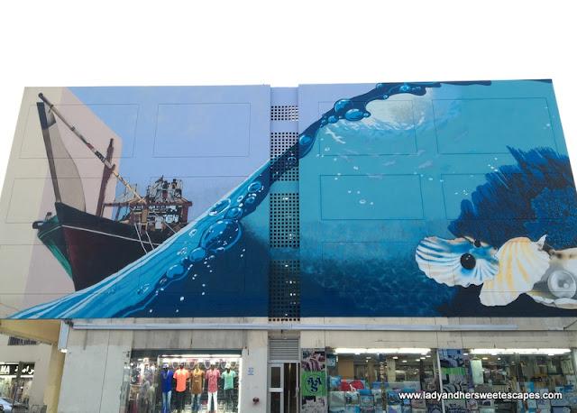 mural in Karama Dubai