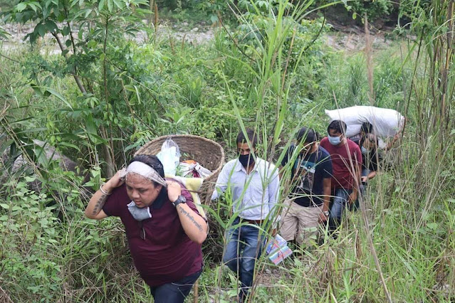 Hill MLA's relief trip - 6km walk with 15kg load