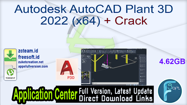 Autodesk AutoCAD Plant 3D 2022 (x64) + Crack