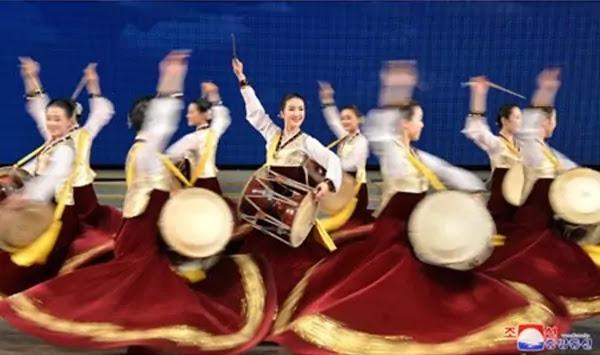(1) Drum dance, folk dance of Korean nation
