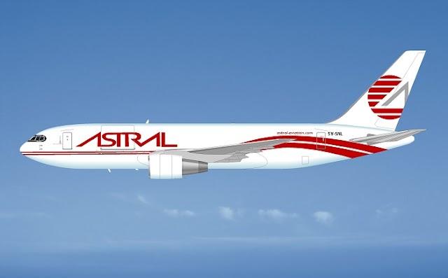 إيه تي إس جي تسلم طائرة شحن من طراز بوينج 767 إلى شركة أسترال أفييشن الكينية