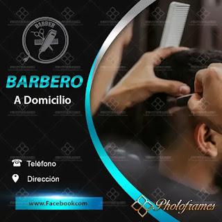 plantilla de anuncio para promocionar y buscar trabajo de barbero